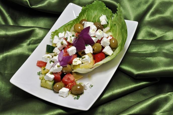 Gluténmentes görög saláta