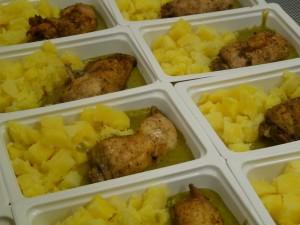 sült csirkecomb burgonyával gluténmentes